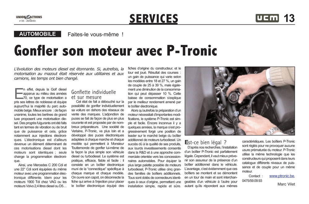 More power for your engine with P-Tronic – do it yourself!